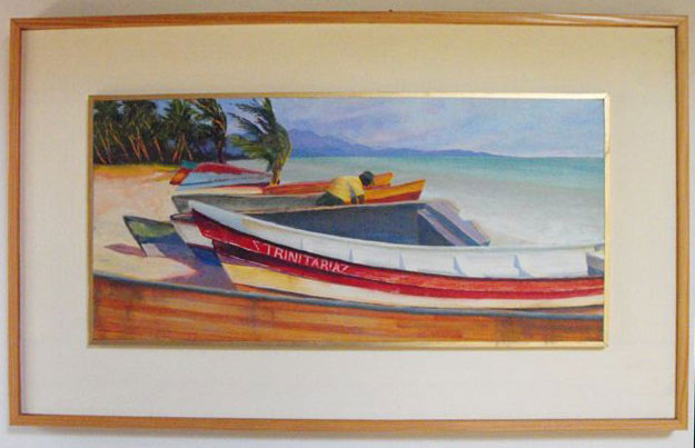 Painting: Boats in Tropics