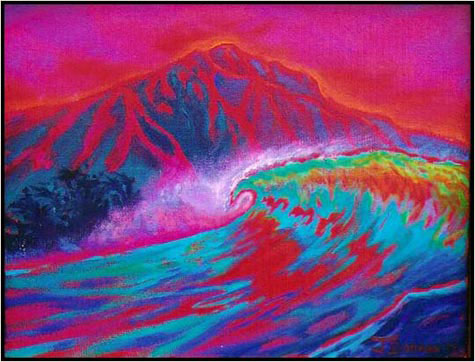 Painting: Diamond Head Curl