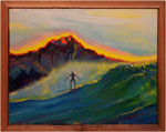 Painting: Diamond Head Surfer Yellow