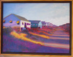 Painting: Purple Shadows - Kitty Hawk Beach Road