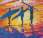 Painting: Three at Sundown